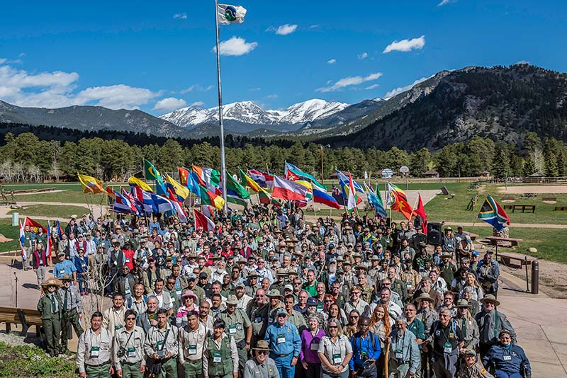 The 8th World Ranger Congress group photo.